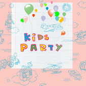 Kids party card — Stock Photo