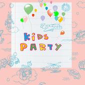 Cartão de festa de crianças — Fotografia Stock