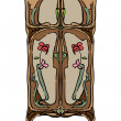 Foto Stock: Jugendstil wardrobe with flowers