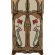 Jugendstil wardrobe with flowers - Foto Stock