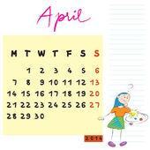 Filhos de abril de 2014 — Foto Stock