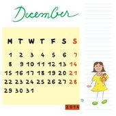 2014 年 12 月的孩子 — 图库照片