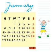 Januari 2014 kinderen — Stockfoto
