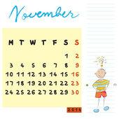 Listopadu 2014 děti — Stock fotografie