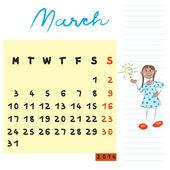 Marca 2014 roku dzieci — Zdjęcie stockowe