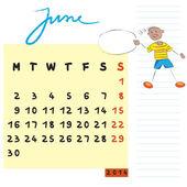 2014 年 6 月的孩子 — 图库照片
