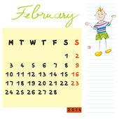 2014 年 2 月的孩子 — 图库照片
