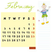 Februar 2014 kinder — Stockfoto