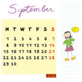September 2014 kids — Stockfoto