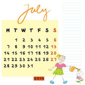 Juli 2014 kinderen — Stockfoto