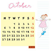 October 2014 kids — Stockfoto