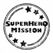 图库照片: Superhero mission