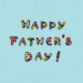 Babalar günü kartı — Stok fotoğraf