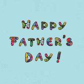 Cartão de dia dos pais — Foto Stock