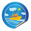 Leisure cruise sticker — Stock Photo