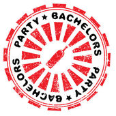Bachelors party stamp — Stock Photo