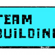 Team building pixel stamp — Foto de Stock