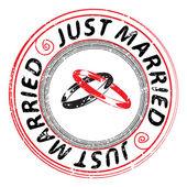 Just married — ストック写真