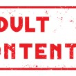 Adult content stamp — Stock Photo