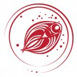 Fish stamp — Stockfoto