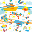 Summer vacation pattern — Stock fotografie