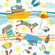 Summer vacation pattern — Stockfoto