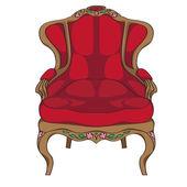 Rococo armchair — Stock Photo