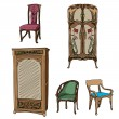 Art nouveau colored furniture — Foto de Stock