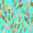 Ice cream pattern — Stockfoto #27782785