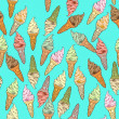 Ice cream pattern — Stock Photo