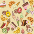 Sweets pattern — Stock Photo