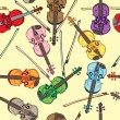 Violin pattern — Stockfoto #27783379
