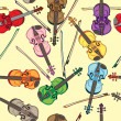 Violin pattern — Stock Photo