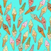 Ice cream pattern — Foto de Stock