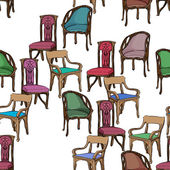 Art nouveau furniture pattern — ストック写真