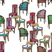 Art nouveau meubels patroon — Stockfoto