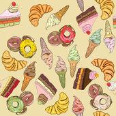 お菓子のパターン — ストック写真