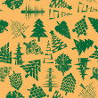 Abstract christmas trees pattern — Stok fotoğraf