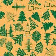 Abstract christmas trees pattern — Stockfoto