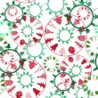 Abstract christmas trees pattern — Foto de Stock