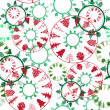Abstract christmas trees pattern — Stock Photo