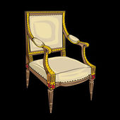Classical style chair — Stock Photo