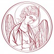 Archangel drawing — Stock Photo