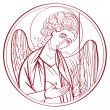 Stock Photo: Archangel drawing