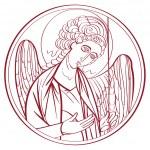 Постер, плакат: Archangel drawing