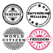 Stock Photo: Freedom stamps series