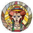 Stock Photo: Stained glass empress