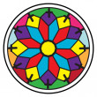 Stained glass rosette — Stok fotoğraf