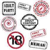 Série de selos de conteúdo adulto — Foto Stock