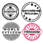 Freedom stamps series — Stock Photo